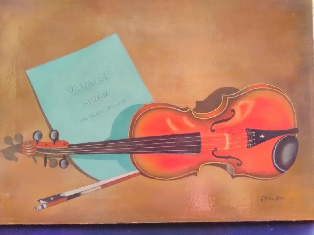 A Vintage Oil On Canvas - Signed and Unframed