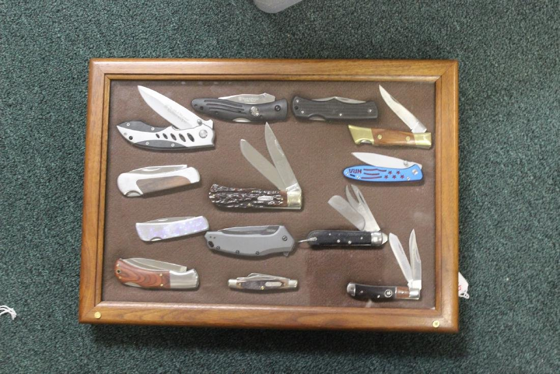 A Case of 13 Collectible Knives