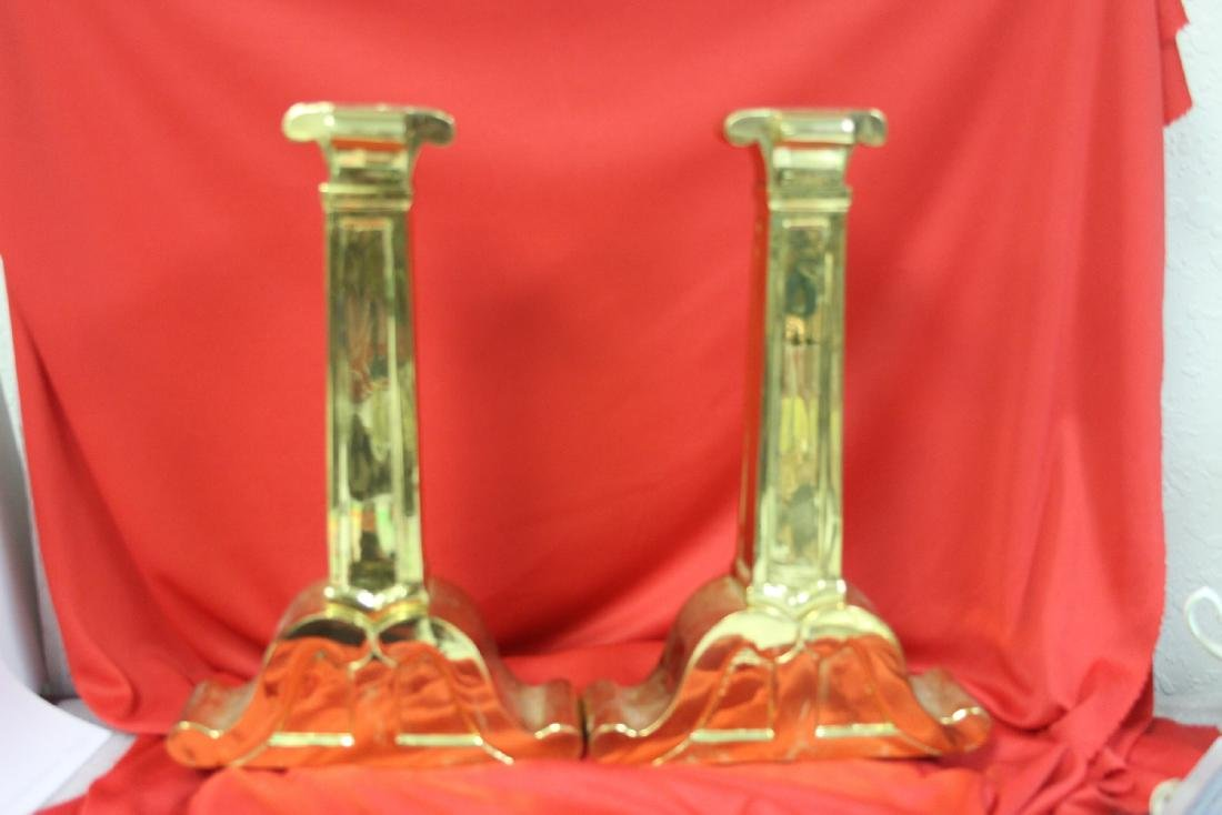 Set of Brass Candlesticks