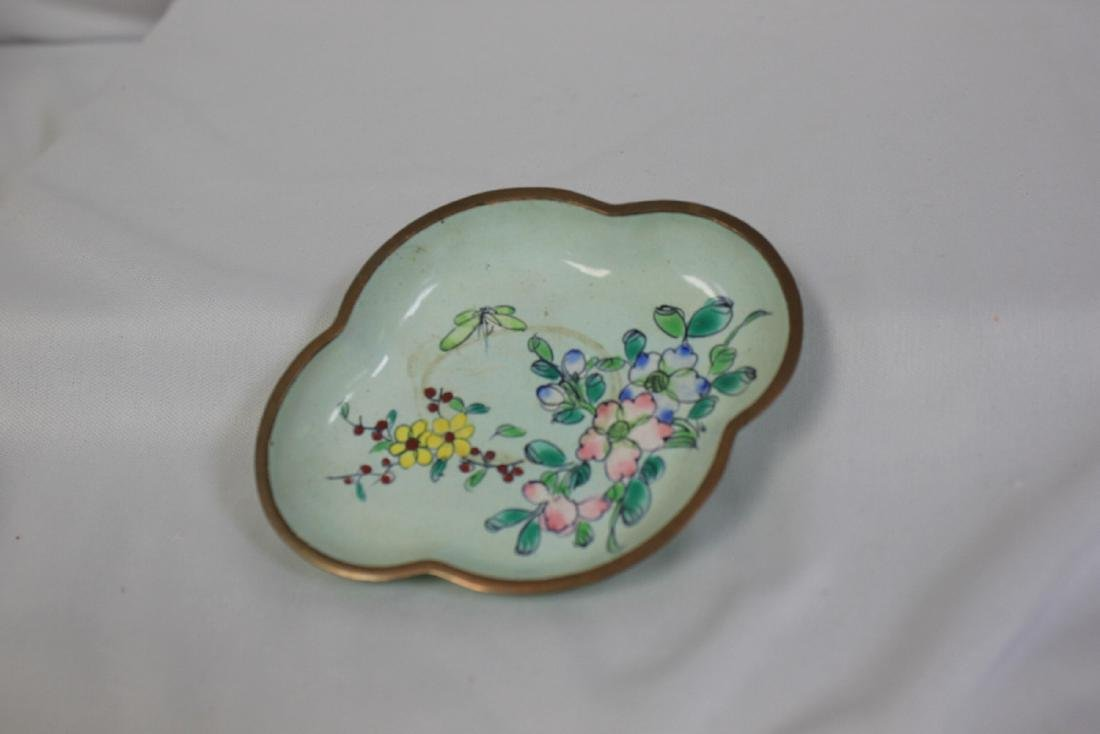 A Vintage Chinese Enamel Tray