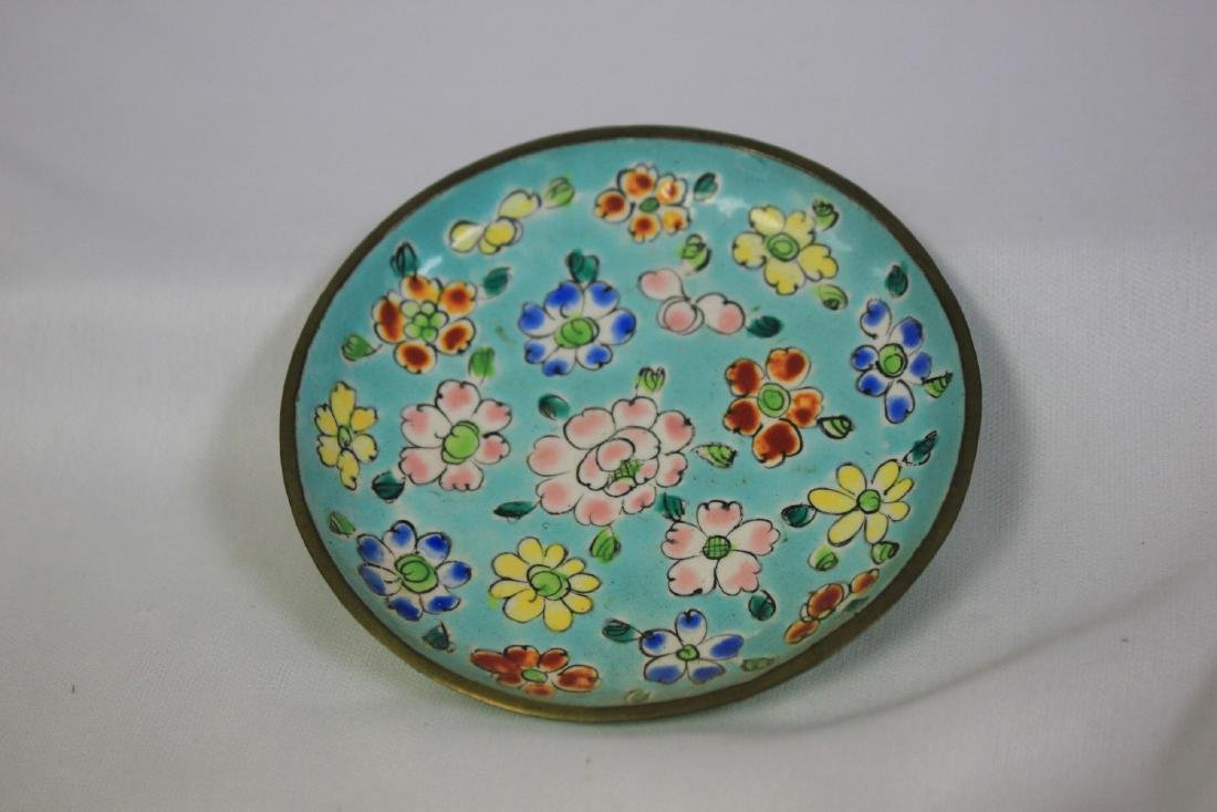 An Enamel Chinese Small Tray