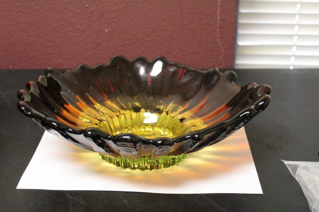 A Signed Art Glass Bowl - Made by Humpilla Company,