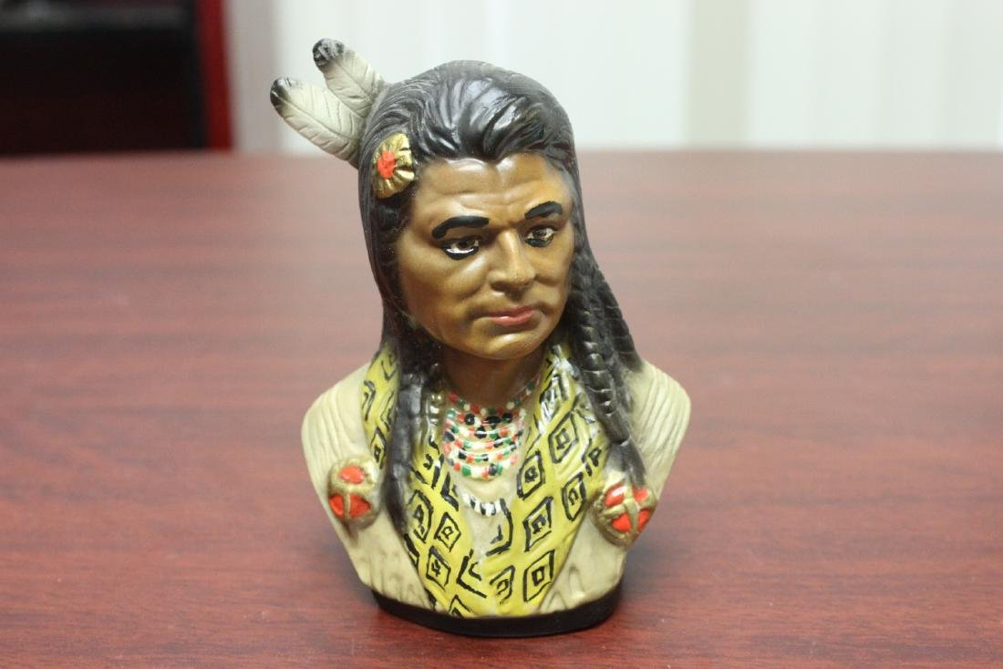 An Indian Ceramic Bust