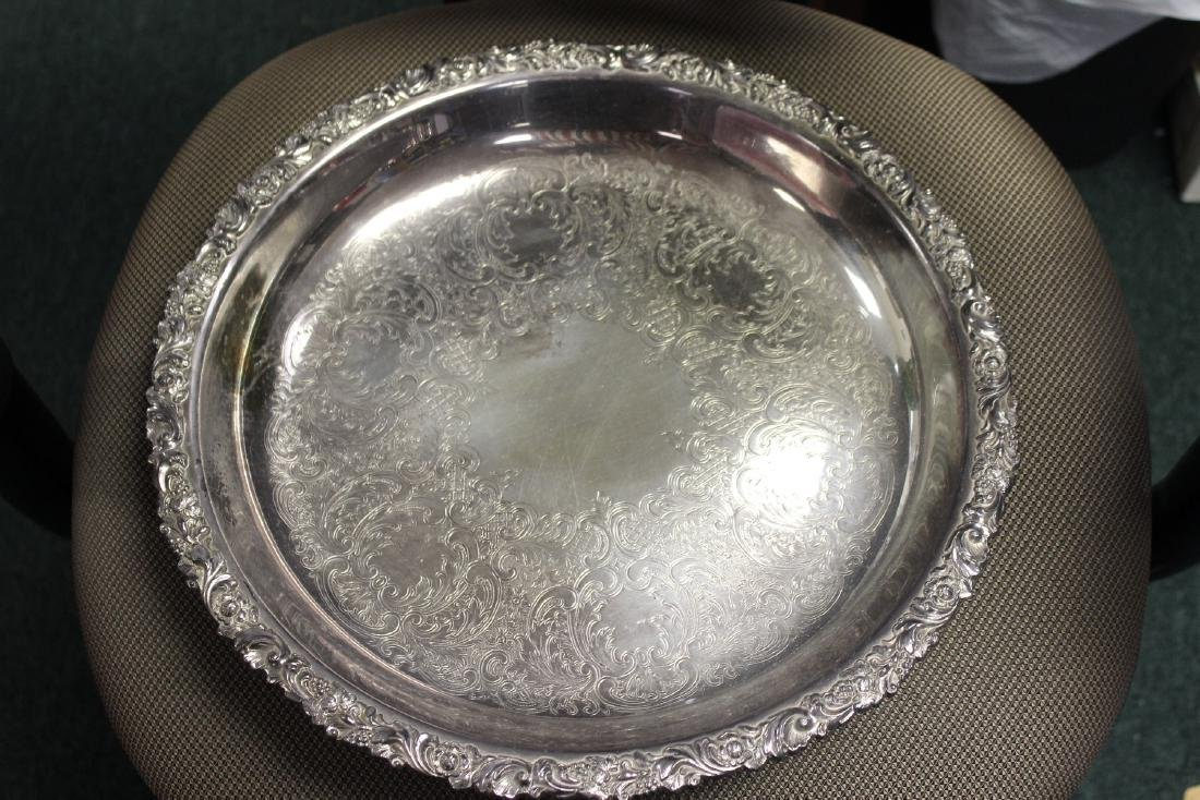 A Silverplate Round Tray