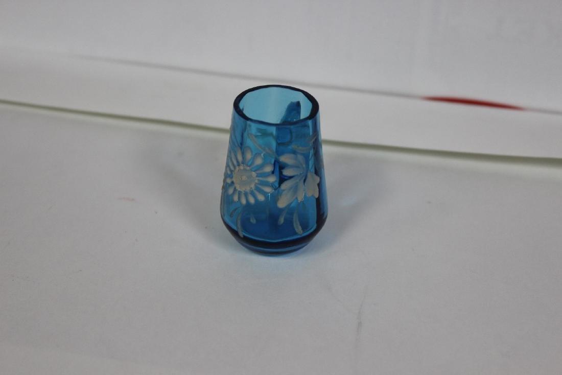 A Teal Blue Miniature Glass Mug