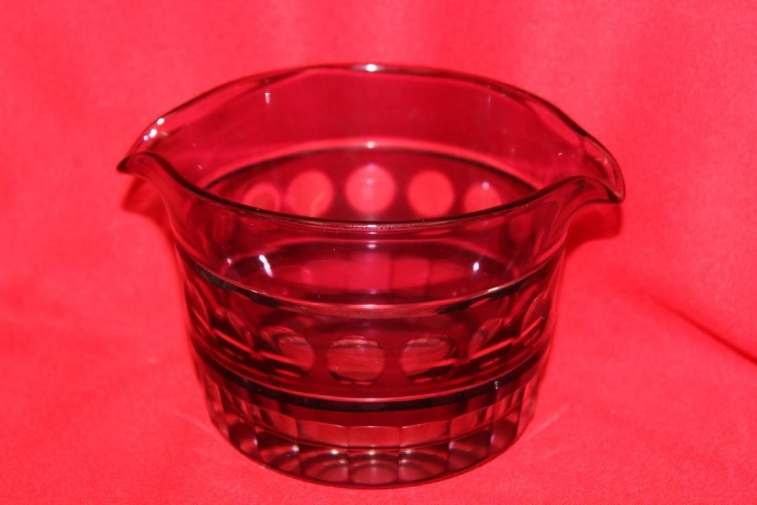 A Bohemian cut Glass Bowl