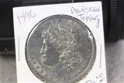 A 1896 Toned Morgan Silver Dollar