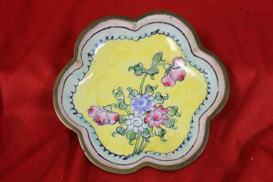 A Chinese Canton Enamel Small Floral Dish