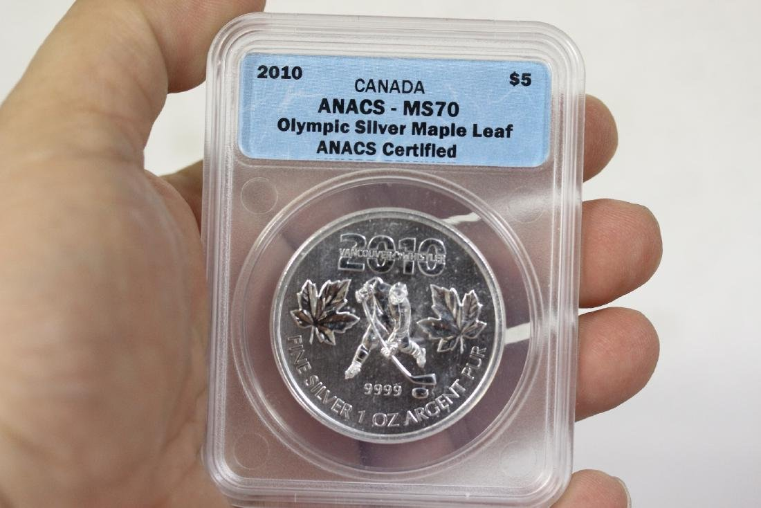 A 2010 Anacs Canada Olympic Silver $5.00