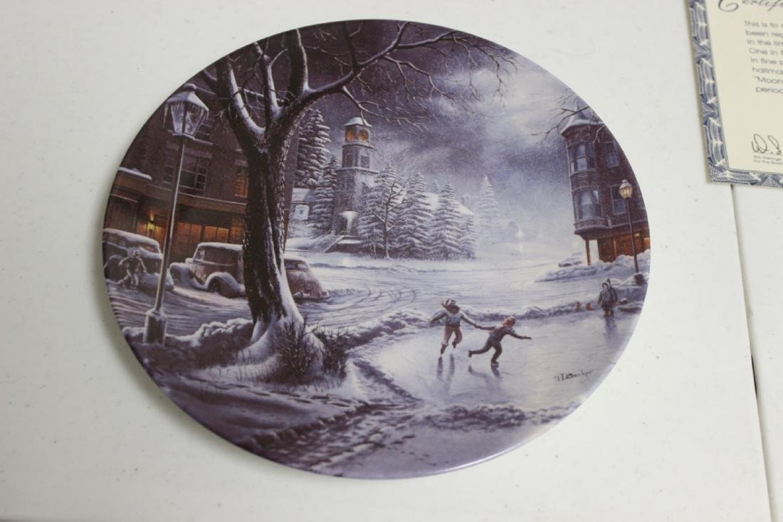 """Collector's Plate """"Moonlight Skater"""" by H.T.Becker"""