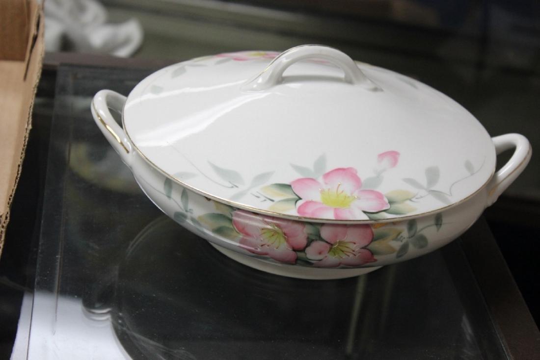 A Noritake Round Azalea Pattern Casserole with Cover -
