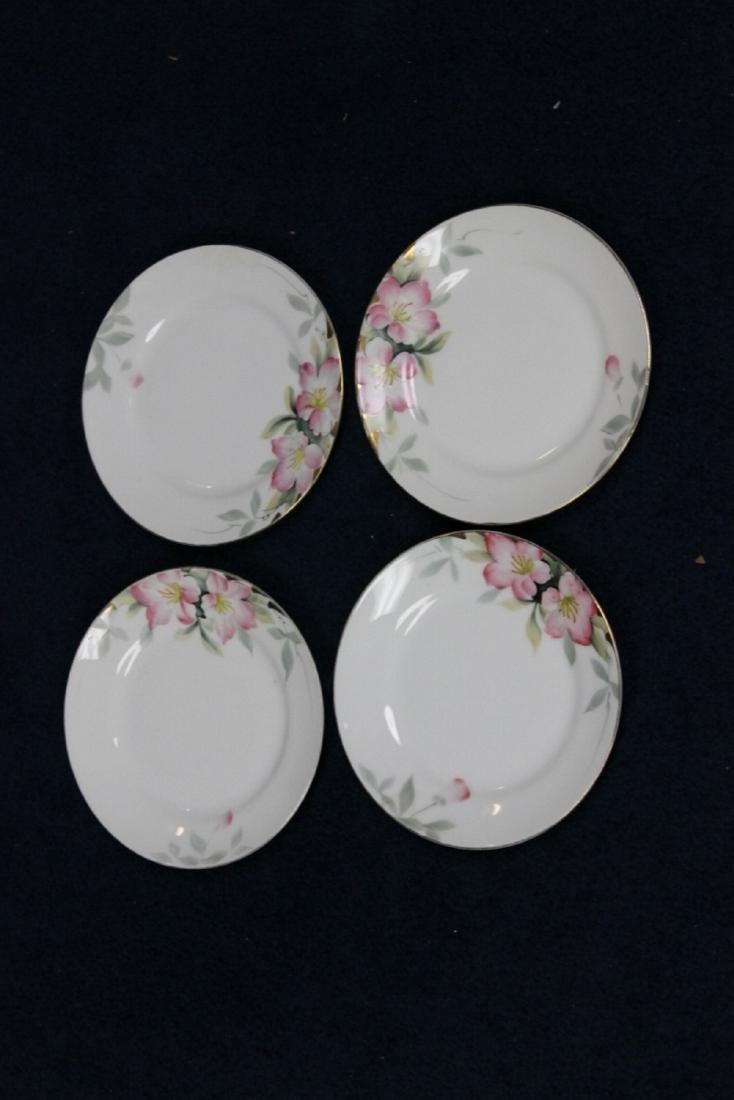 A Set of 4 Noritake Azalea Pattern Bread Plate