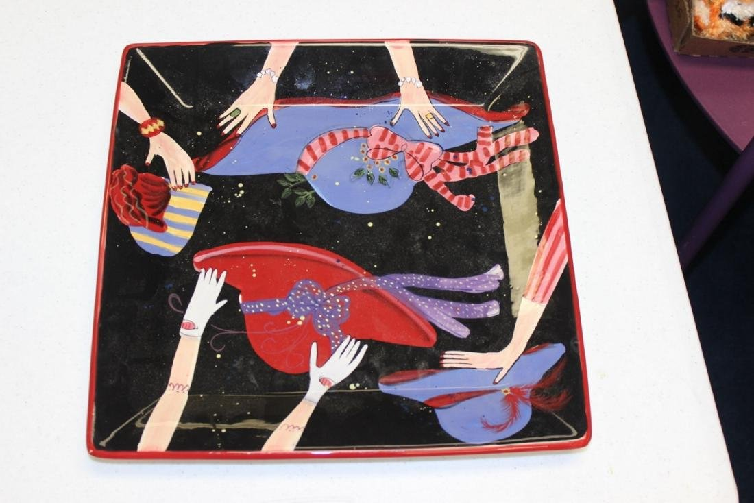 Vintage Collectible Square Tray / Plate Ceramic Susan