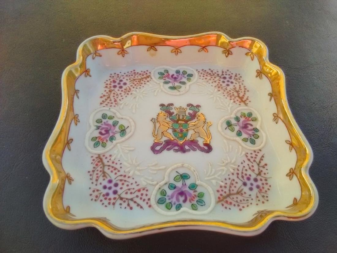 A Raised Square Tray - Embossed Decoration