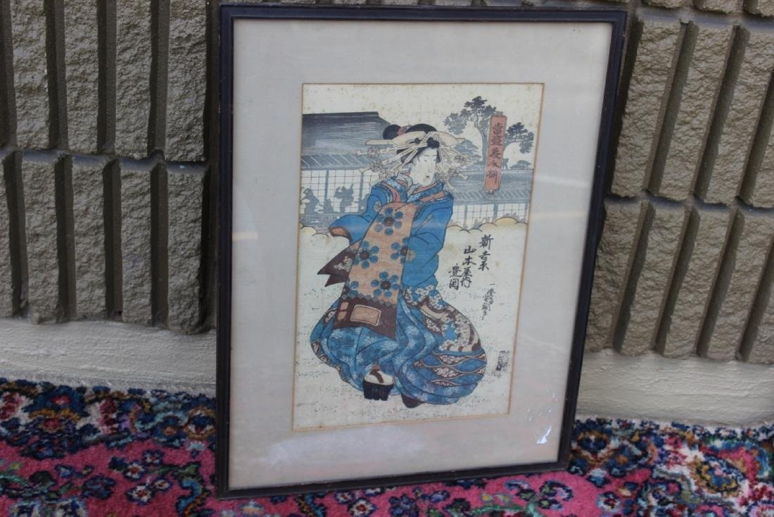 A Japanese Wood Block Print