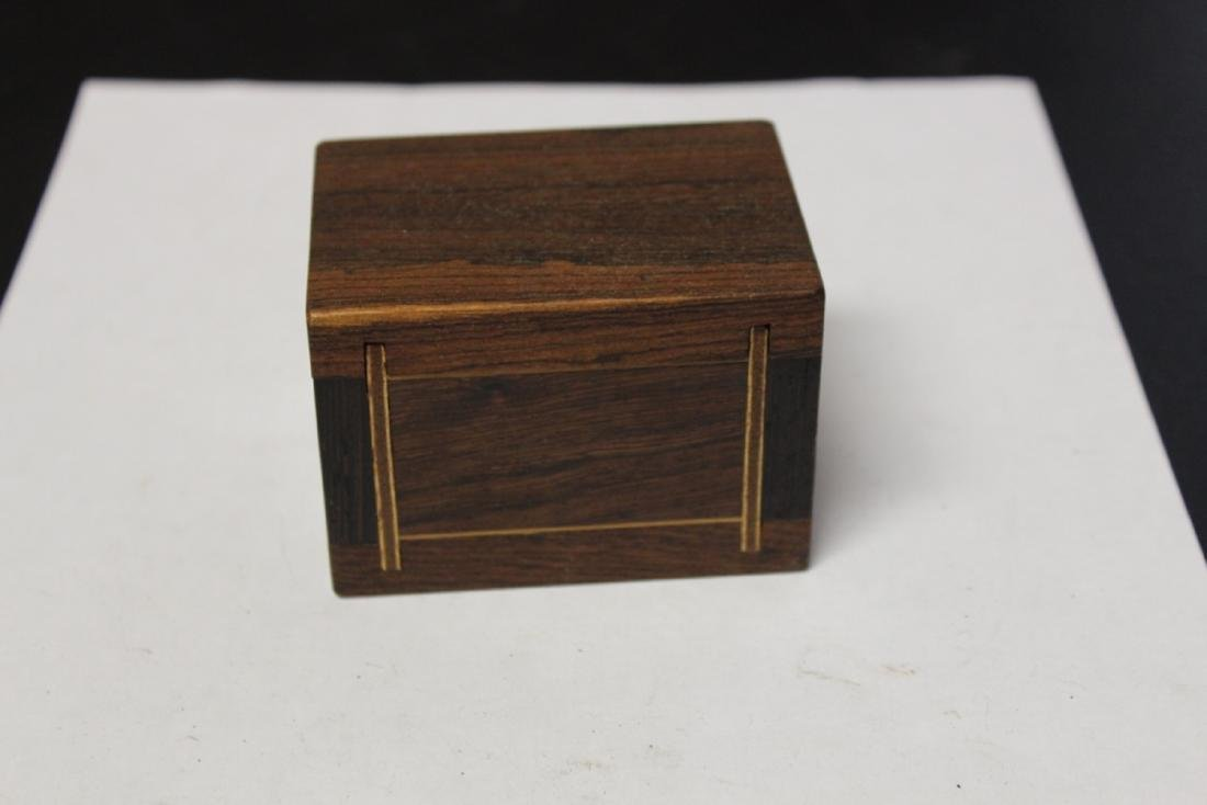 A Small Inlaid Trinket Wooden Box