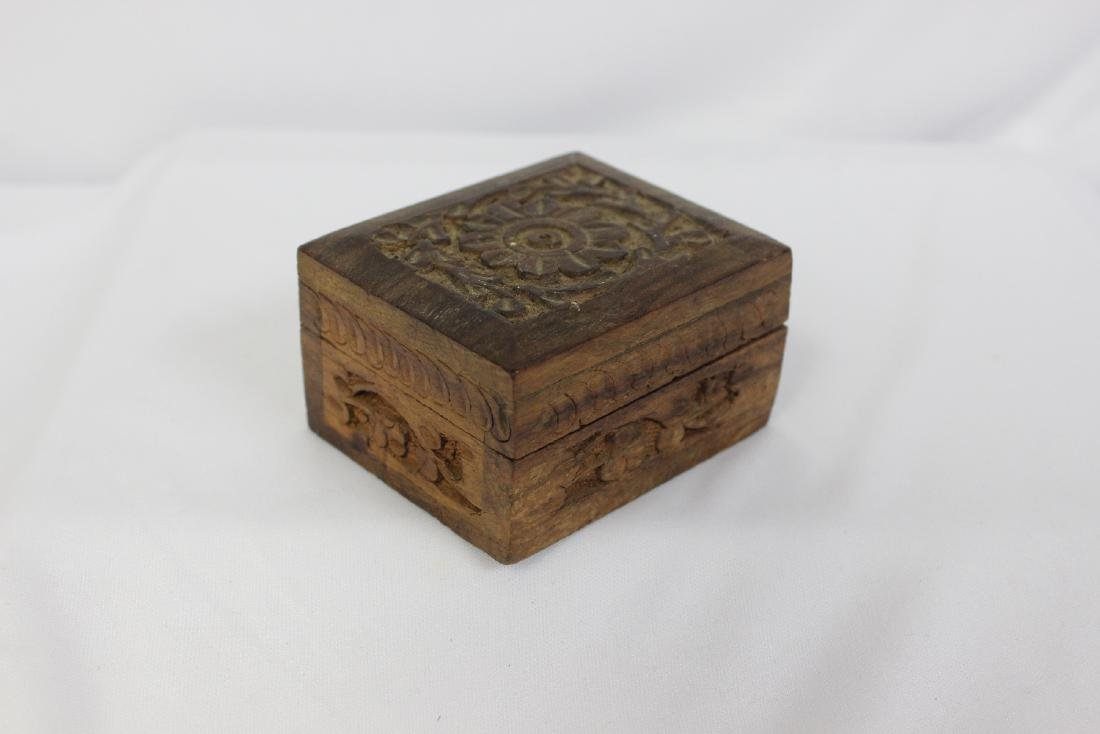 A Carved Wooden Trinket Box