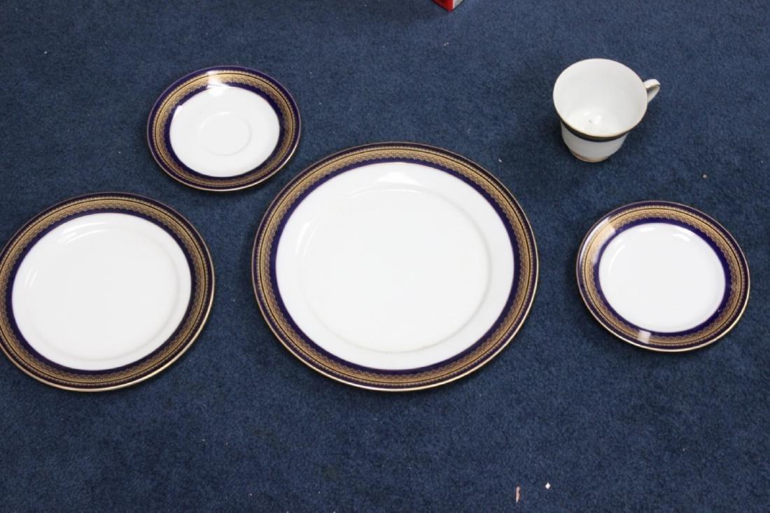 A Noritake Set of Dinner Plate, Salad Plate, Bread