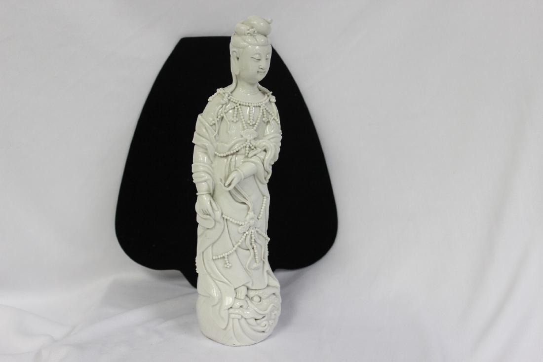 A Vintage Chinese Blan deChine Kwan Yin