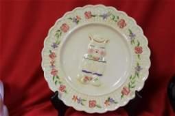 A Ceramic Cat Plate