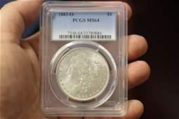 A Graded 1883O Morgan Silver Dollar