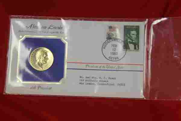 Abraham Lincoln Stamp and Coin Set