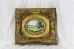 A Miniature Oil on Wood Painting