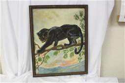 Oil Painting of Black Panther
