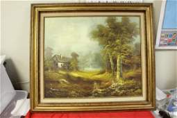 A Signed Vintage Oil on Canvas Painting