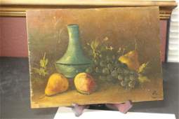 An Oil on Board Painting