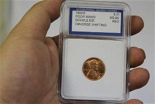 1955 Double Die Wheat Penny - Jun 09, 2019 | Premier Auction House