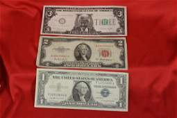 Lot of 3 Bank Notes