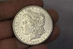 A Rare 1878 CC Morgan Silver Dollar
