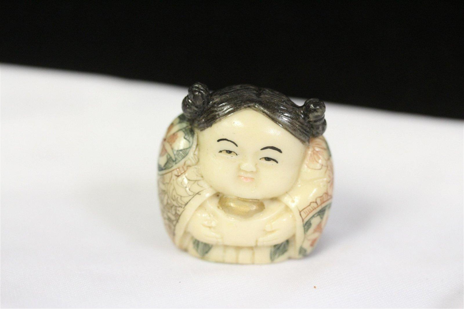 A Chinese Resin Netsuke