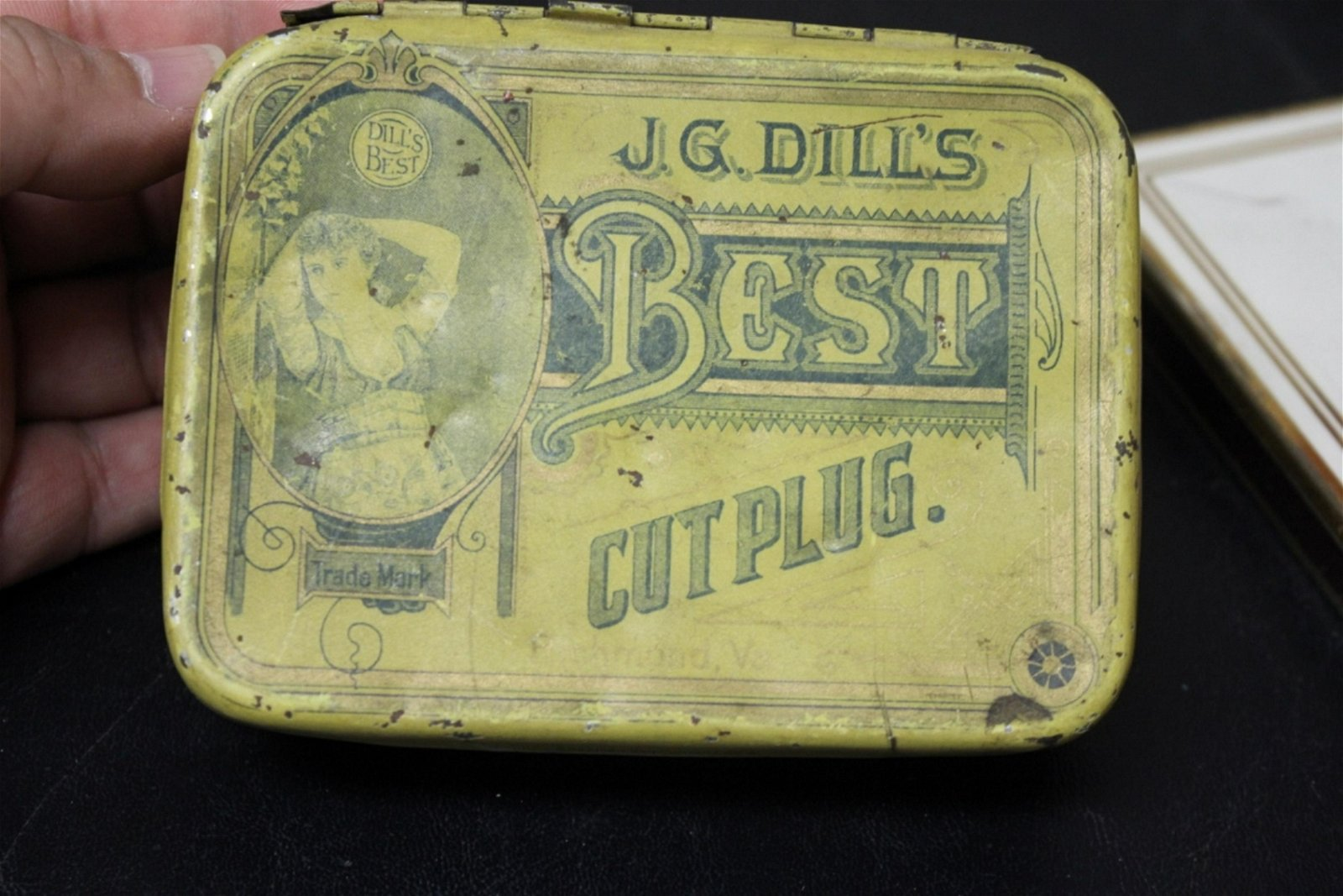 A J.G. Dill's Best Cut Plug Tobacco Tin