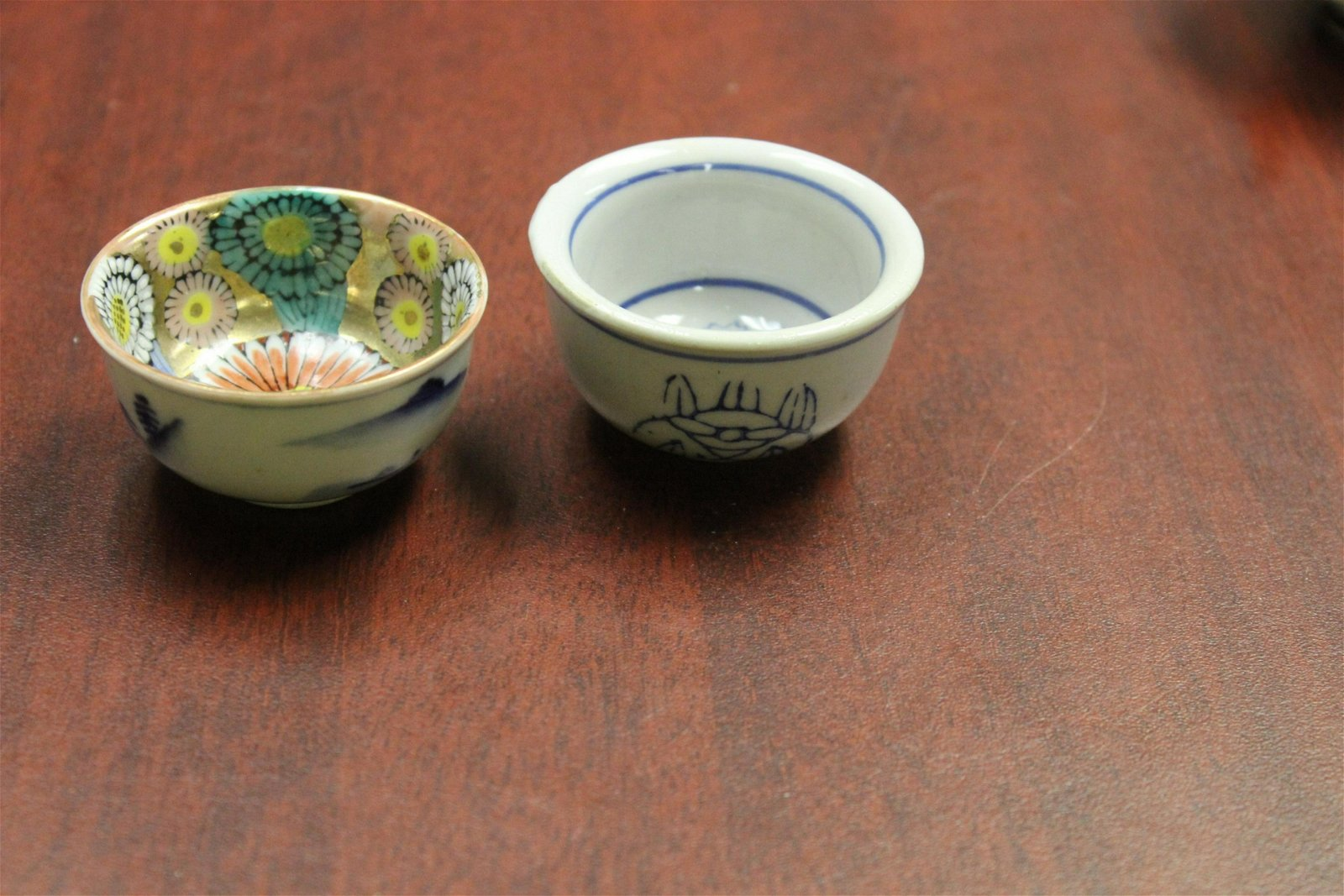 Lot of 2 Chinese/Japanese Wine cups