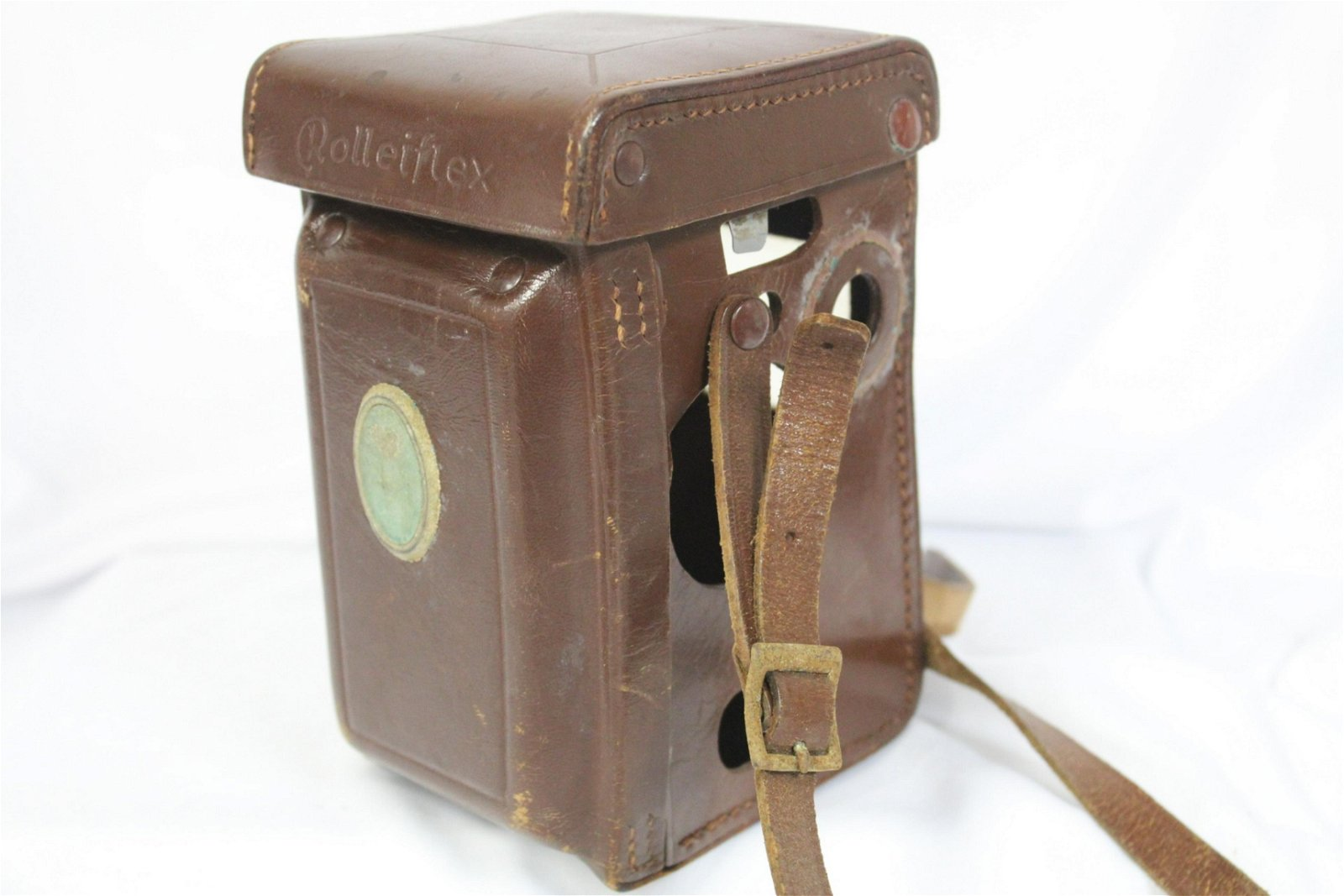 A Rolleiflex Twin Lens Leather Case
