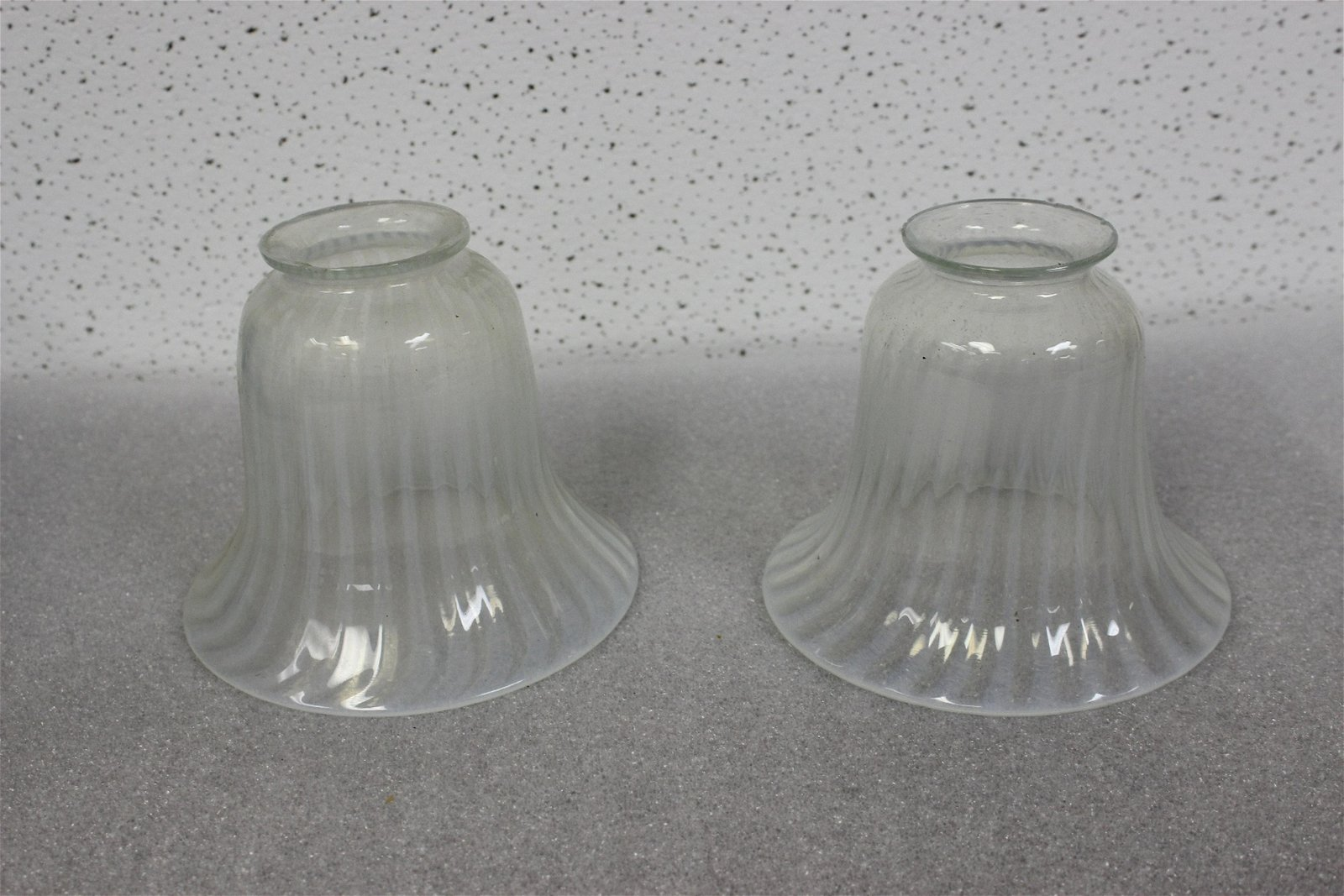 Set of Two Art Glass Shades