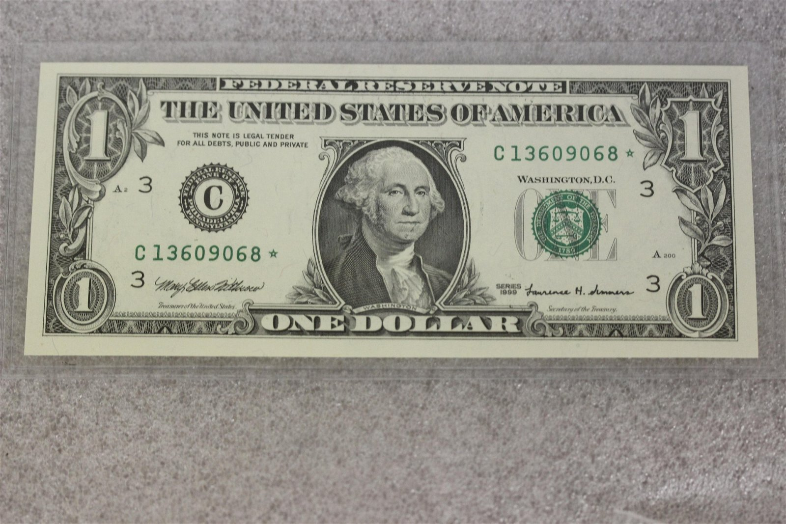 A 1999 One Dollar Star Note