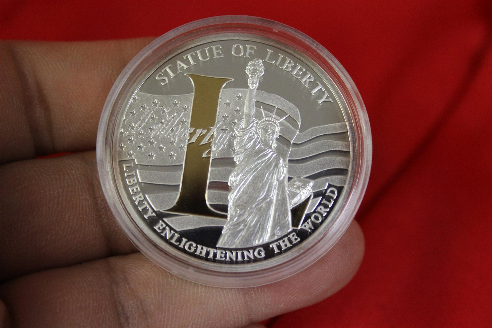 A Liberty Silver Plated Medal