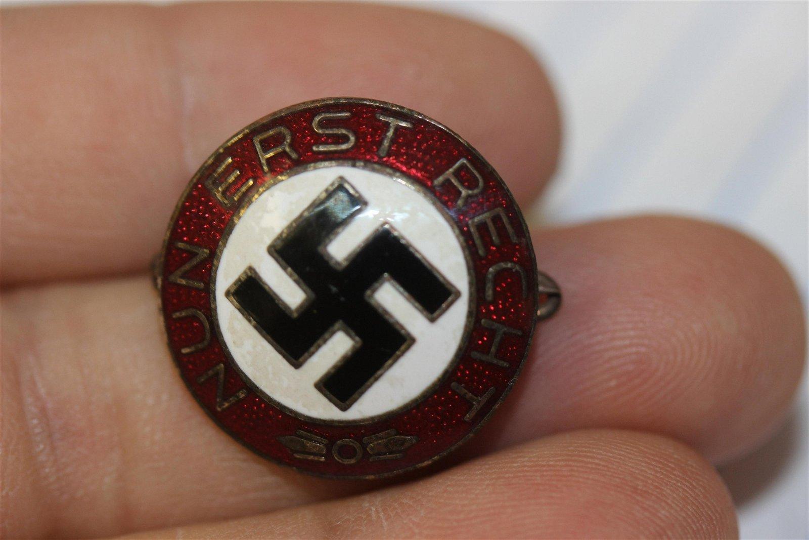 A German Enamel Party Pin