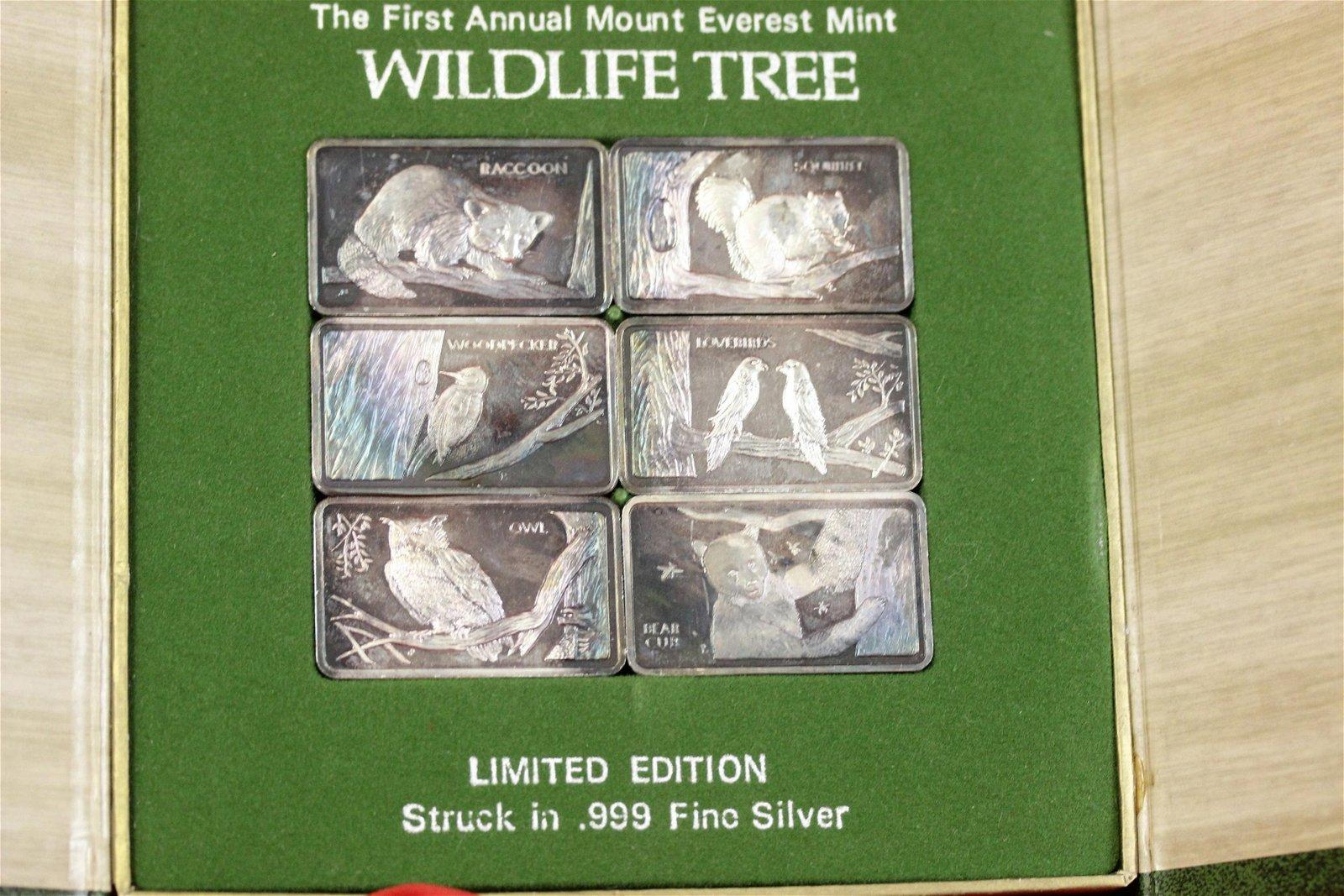 Rare Wild Life .999 Silver Bar