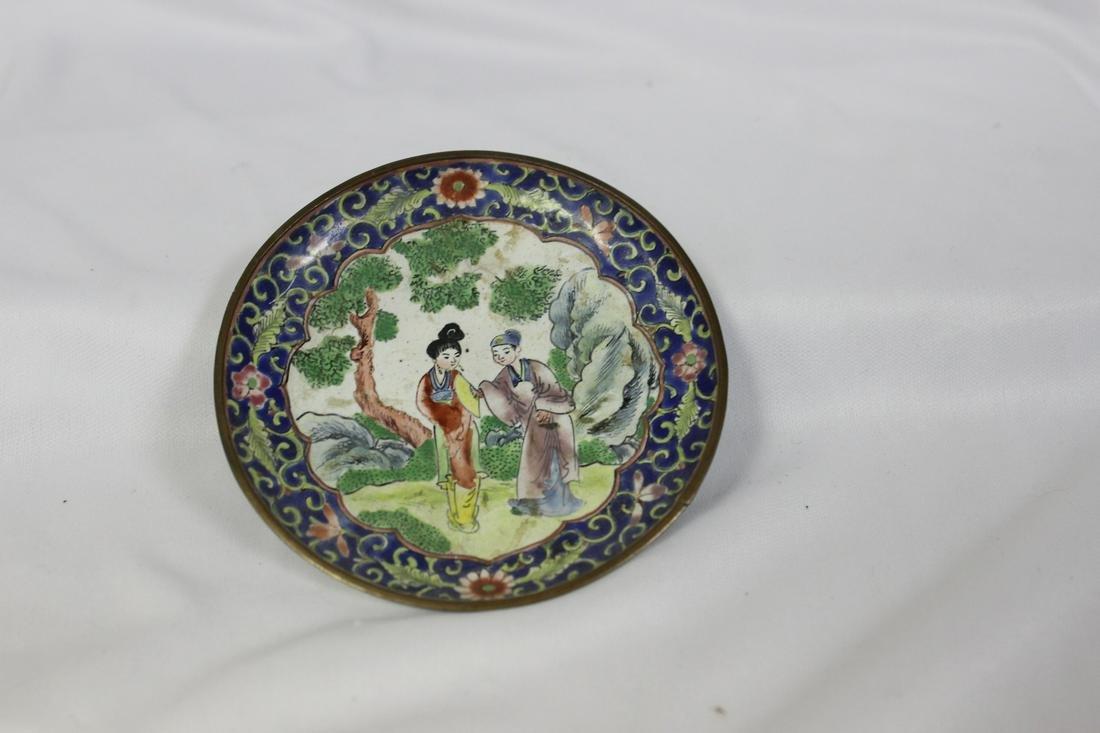 A Vintage China Enamel Small Dish