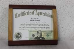 A Copy of a Certificate