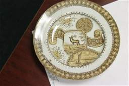 A Pottery Stag and Son English Plate