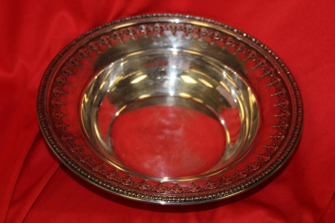 An Ornate Silver Plated Bowl