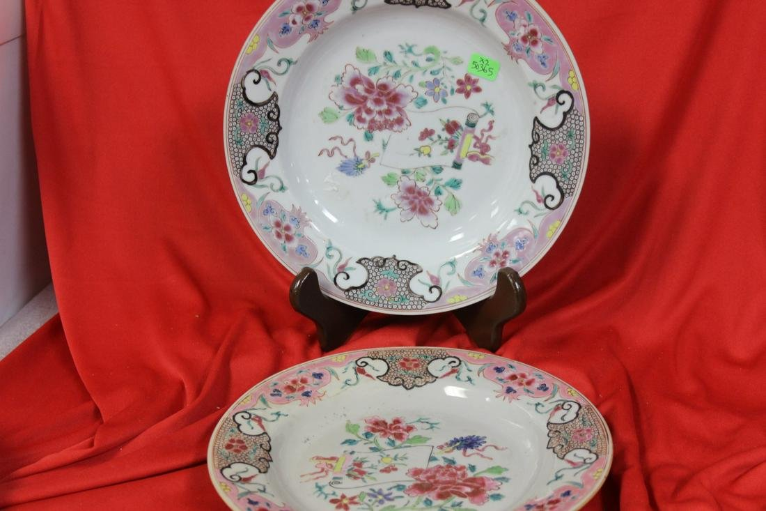 Lot of Two Chinese Export Plates