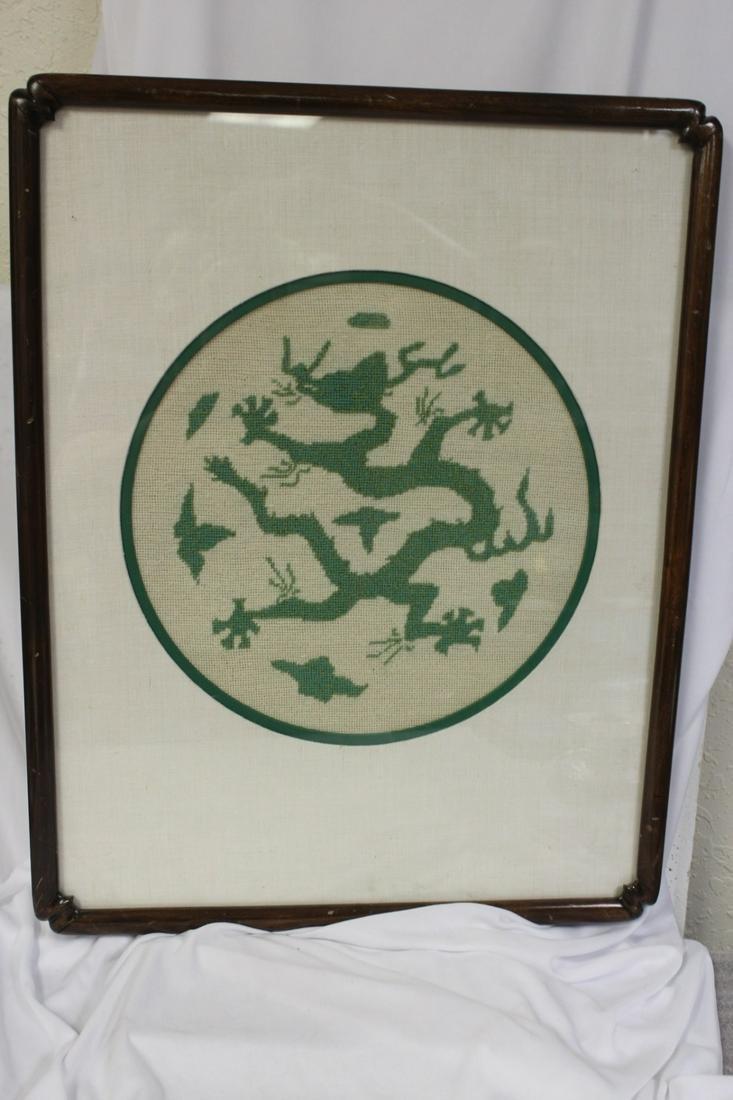 A Chinese Needlepoint Dragon