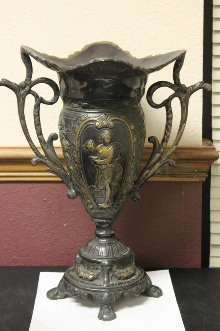 An Art Nouveau Bronze Vase