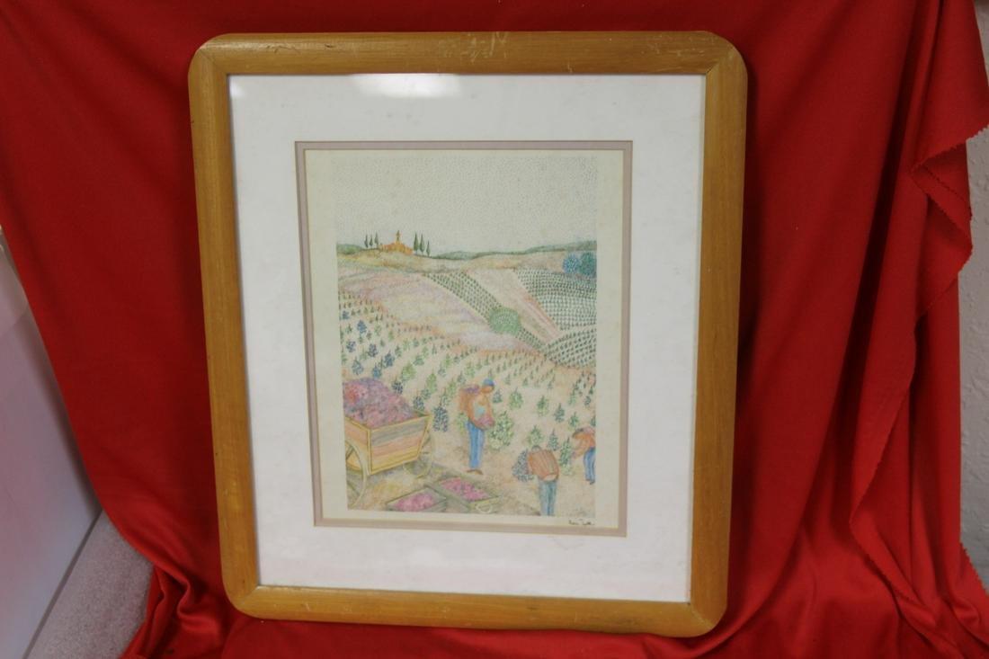 A Framed Lithograph - signed Ivan Nok